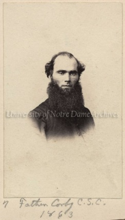 GSBA 1/01:  Portrait of Rev. William Corby, CSC, 1863.